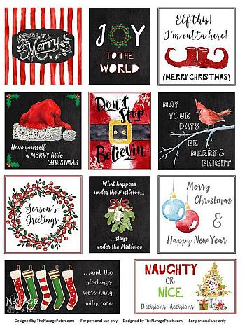Free Christmas Tags Printables - The Navage Patch