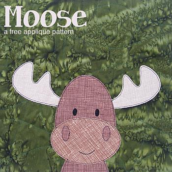 Free Moose Applique Pattern - Shiny Happy World