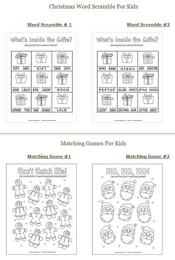 Free Printable Activities for Kids - Squishy Cute Designs