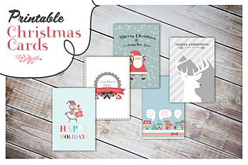 Free Printable Christmas Cards - Oh Everything Homemade