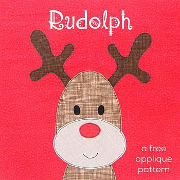 Free Rudolph the Red-Nosed Reindeer Applique Pattern - Shiny Happy World