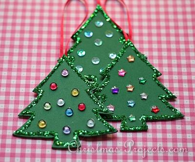 Fun Foam Christmas Tree Ornament
