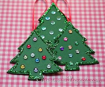 Fun Foam Christmas Tree Ornaments - Christmas Projects