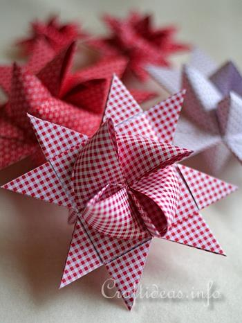 German Paper Star or Froebel Stern - Craftideas