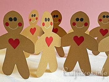 Gingerbread Man Paper Garland - Craftideas