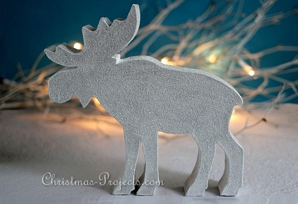 Glittery Winter Animals - Moose or Elk