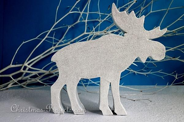 Glittery Winter Animals - Moose or Elk 2