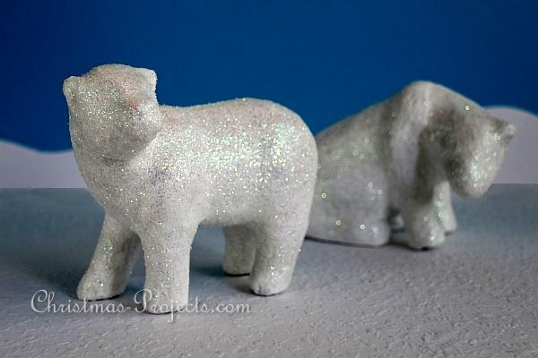 Glittery Winter Animals - Polar Bears