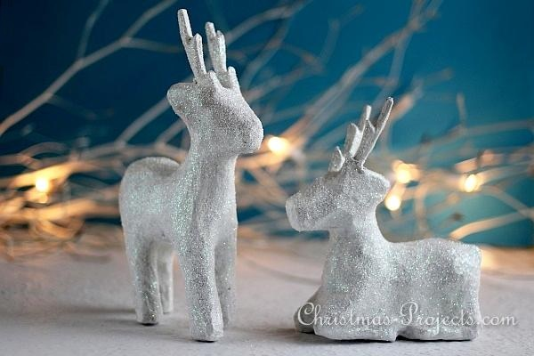 Glittery Winter Animals - Reindeer