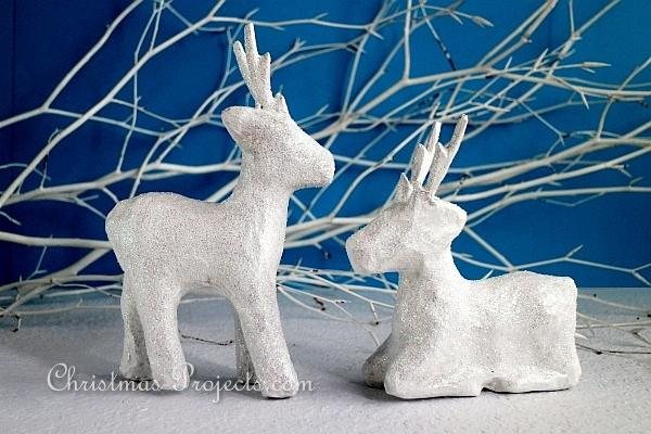 Glittery Winter Animals - Reindeer Pair