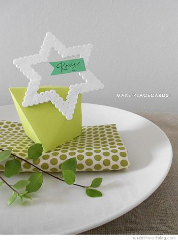 Hama Beads Place Cards - Red Thread Blog