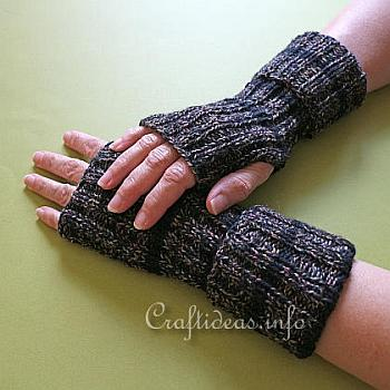 Knitted Wrist Warmers - Craftideas