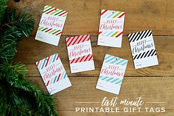 Last Minute Gift Tag Printables - Minted Strawberry