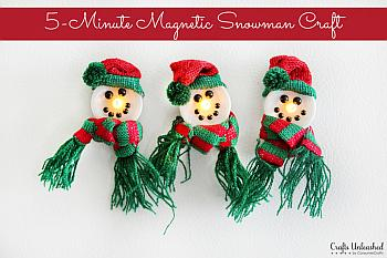 Magnetic Snowman Craft - Crafts Unleashed