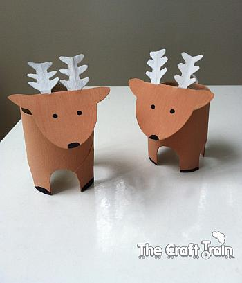 Paper Tube Reindeer - The Craft Train