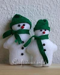 Patchwork and Sewing Craft for Christmas - Felt Snowman Pair 200