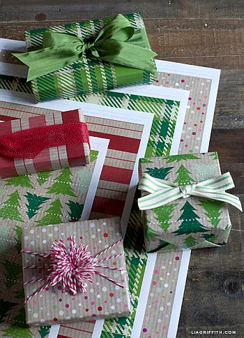 Printable Kraft Gift Wrap - Lia Griffith