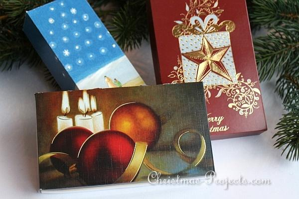 Recycling Craft - Boxes from Christmas Cards