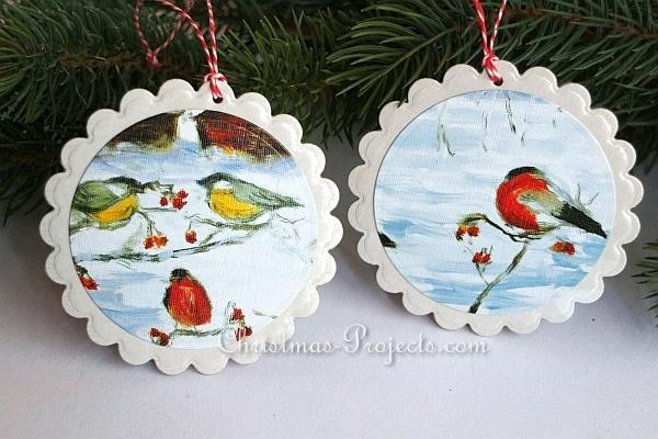 Recycling Craft - Used Christmas Card Tree Ornament 330