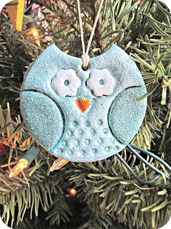 Salt Dough Owl Ornament - Homemade by Jill