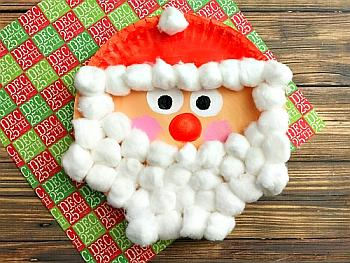 Santa Christmas Paper Plate Craft for Kids - A Cultivated Nest
