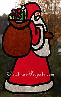 Santa Claus - Father Christmas Paper Window Decoration