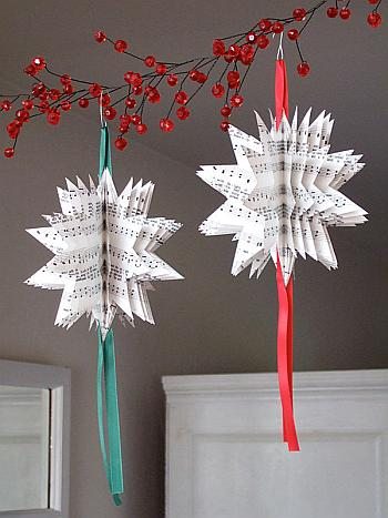Sheet Music Tree Ornaments - Crafty Nest
