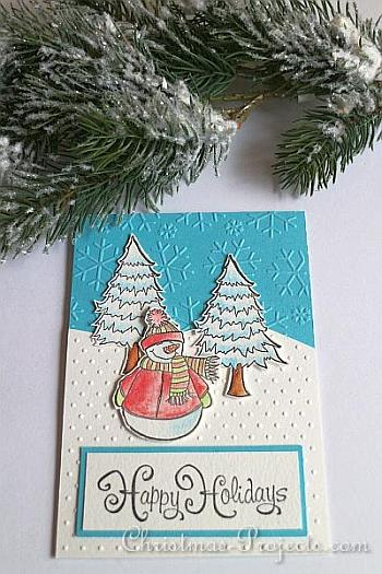 Snowman Christmas Card - Christmas Projects