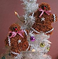 Soft and Fuzzy Gingerbread Man Ornaments 200