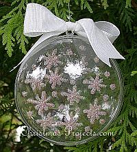 Sparkling Snowflakes Christmas Tree Ornament