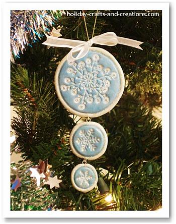 Stamped Clay Tree Ornaments - Holiday Crafts and Creations