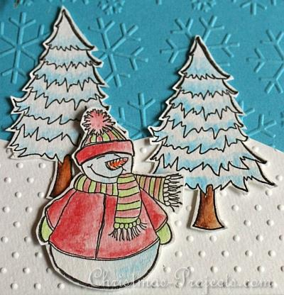 Stamped Snowman Christmas Card 2