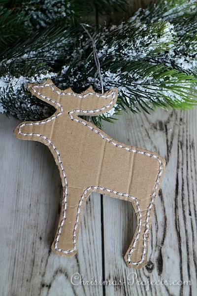 Stitched Moose Tree Ornament