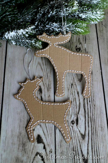 Stitched Reindeer Ornament - Christmas Projects