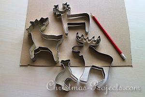 Stitched Reindeer and Moose Tutorial 1