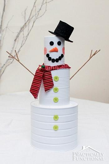 Tin Can Snowman - Practically Functional