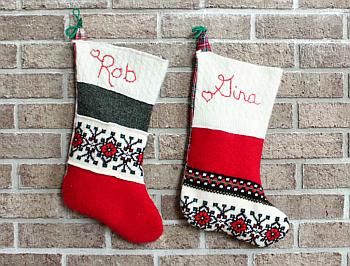 Upcycled Wool Stockings - Gina Michele