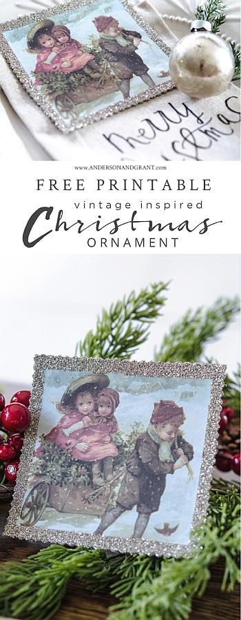 Vintage Inspired Christmas Favor Ornament - Anderson and Grant