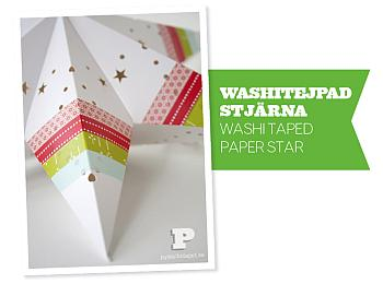 Washi Taped Paper Star - Pysselbolaget
