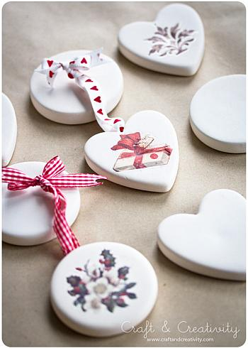 White Terracotta Christmas Ornaments - Craft and Creativity
