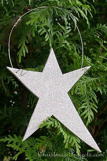 Wooden Glitter Star Craft - Christmas Projects