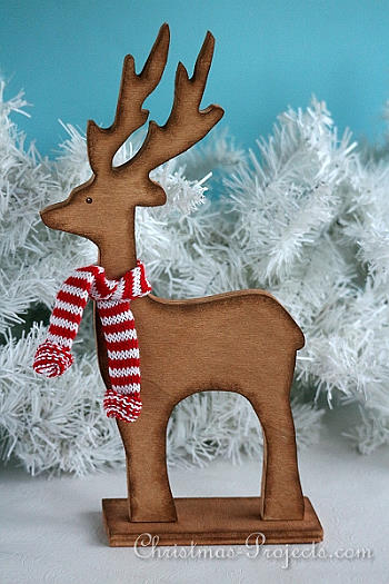 Wooden Reindeer Christmas Decoration - Christmas Projects
