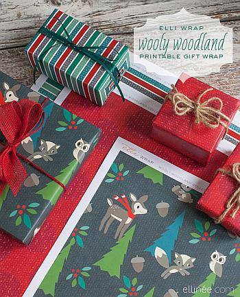 Wooly Woodland Wrapping Paper to Print - Elli