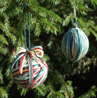 Yarn Ball Ornaments - Petals to Picots